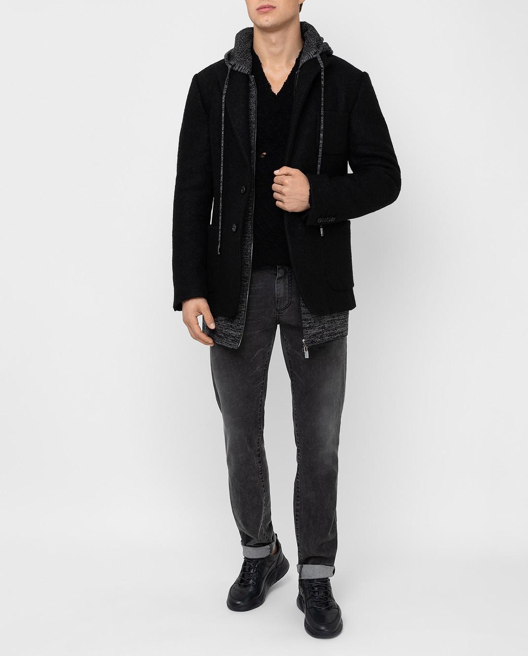 Dolce&Gabbana Черное пальто из шерсти изображение 2