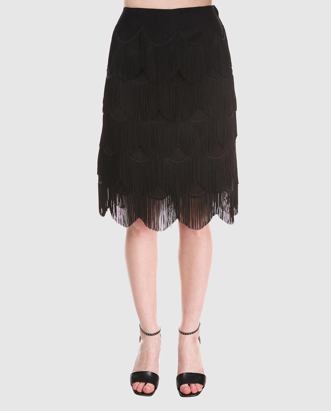 Marc Jacobs Черная юбка с бахромой M4007189 изображение 3