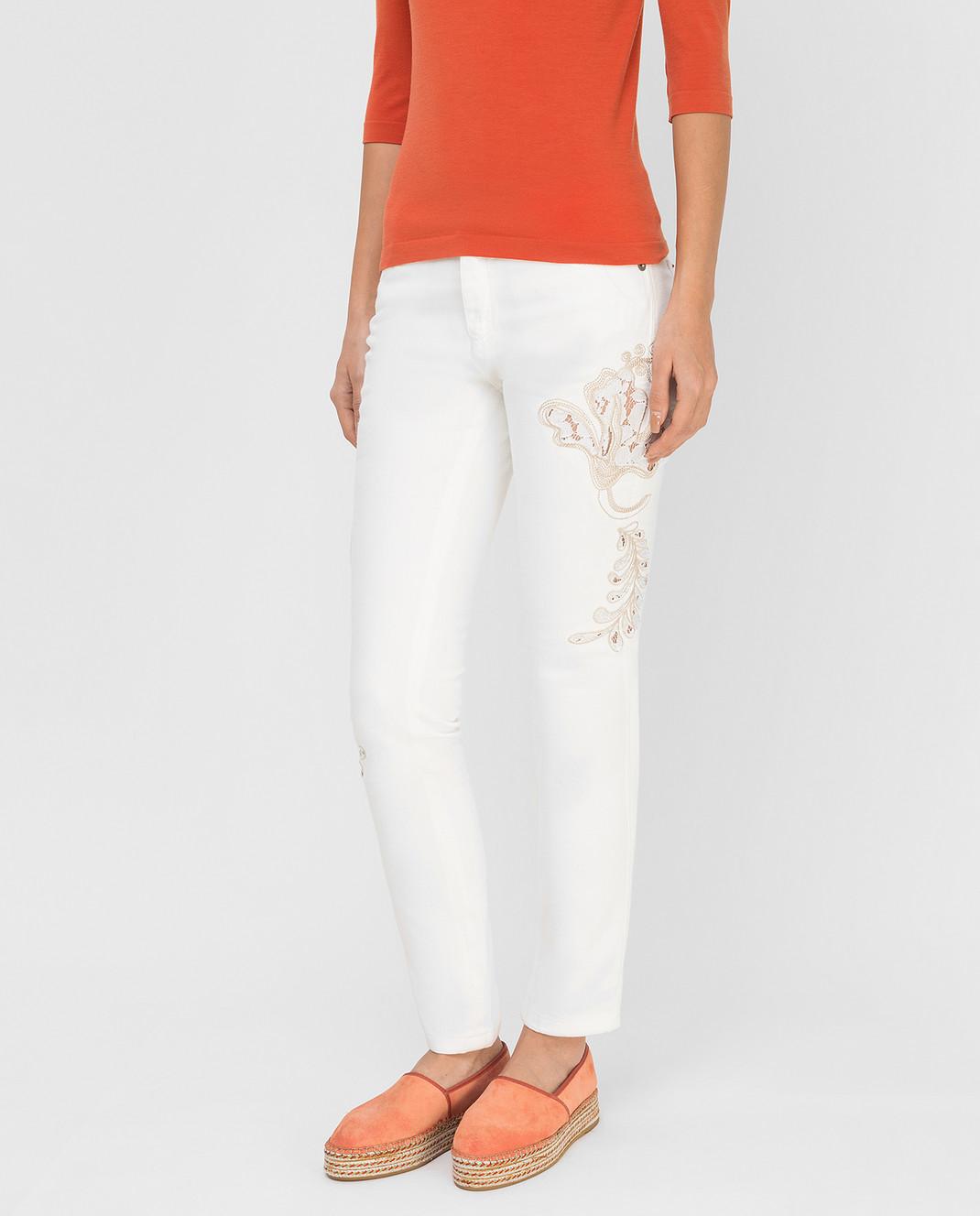 Ermanno Scervino Белые джинсы D287P700UFX изображение 3
