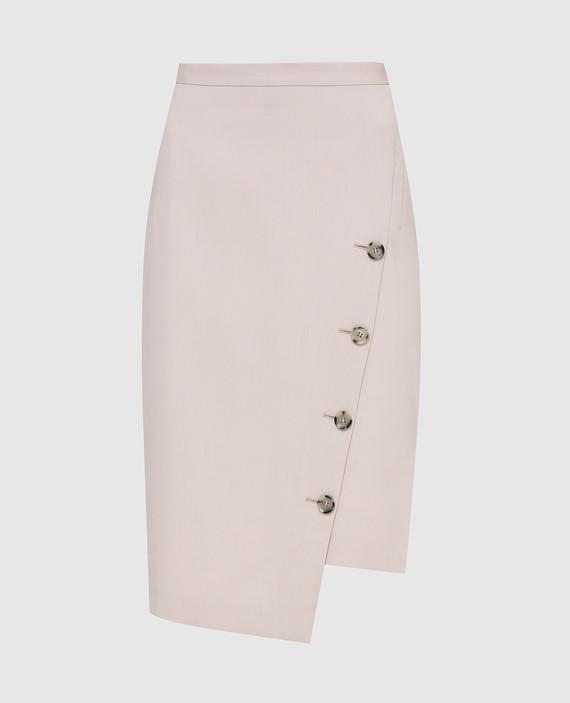 Светло-бежевая юбка из шерсти