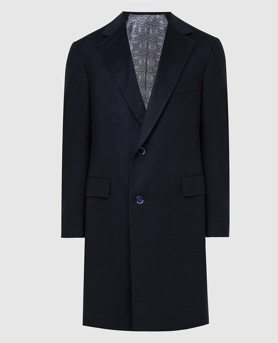 Темно-синее пальто из кашемира
