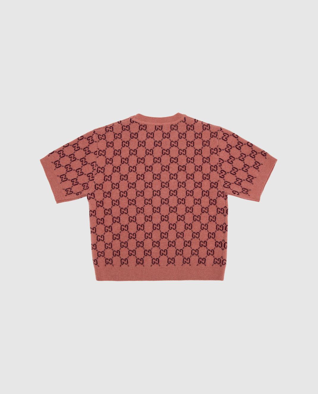 Gucci Детский розовый свитер из шерсти изображение 2