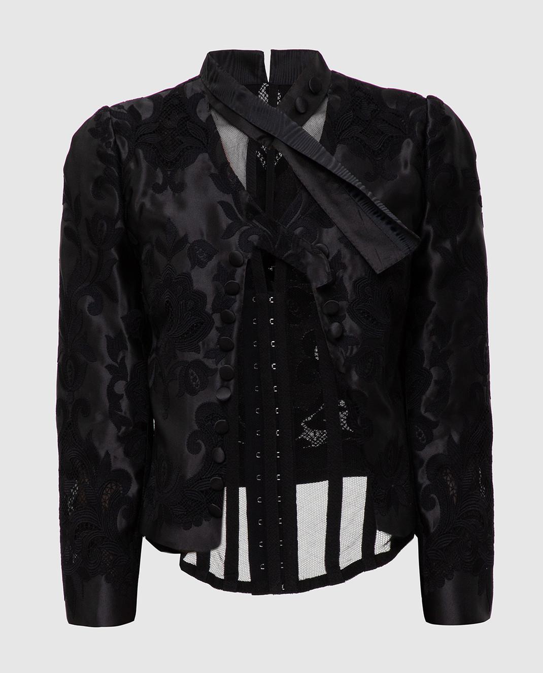 Dolce&Gabbana Черный жакет из шелка изображение 1
