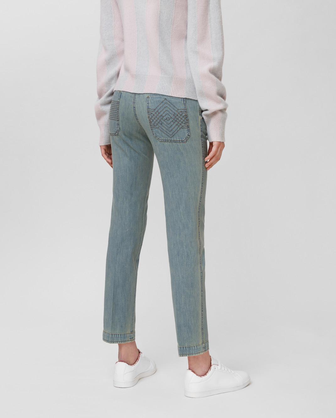Bottega Veneta Голубые джинсы 545211 изображение 4