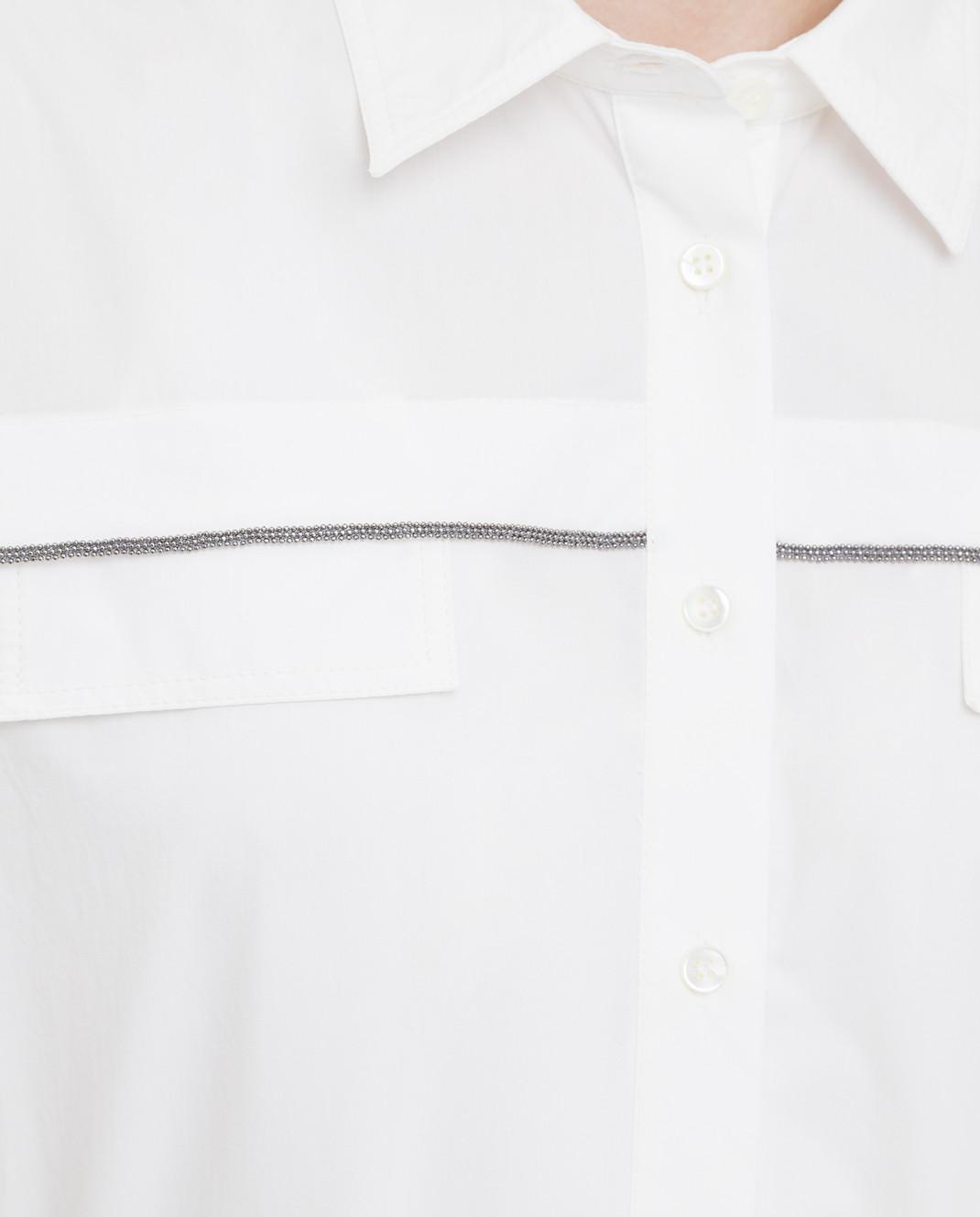 Brunello Cucinelli Белое платье MH127AFM52 изображение 5