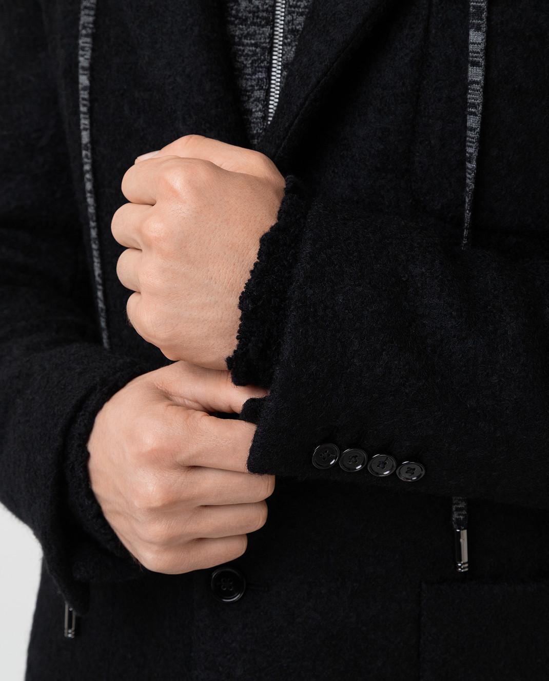 Dolce&Gabbana Черное пальто из шерсти изображение 5