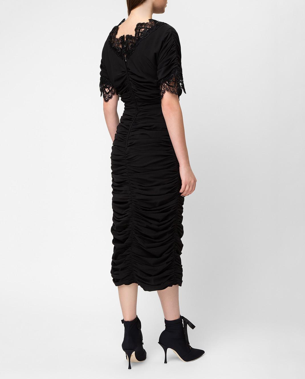 Dolce&Gabbana Черное платье F6A4QTFUABH изображение 4