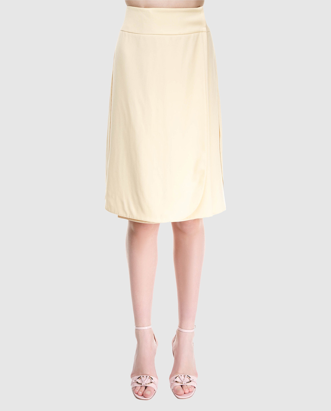 Prada Желтая юбка на запах изображение 3