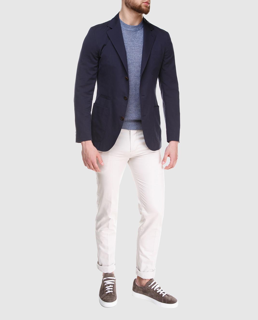 Brunello Cucinelli Темно-синий пиджак MD4007BND изображение 2