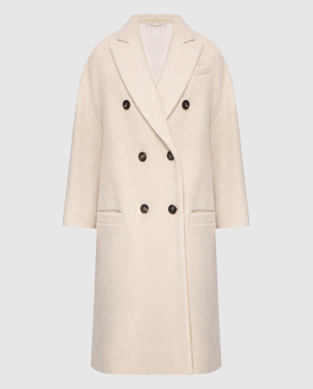 Brunello Cucinelli Светло-бежевое пальто изображение 1