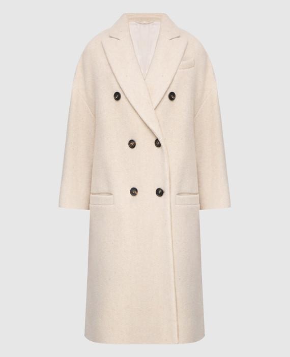 Светло-бежевое пальто
