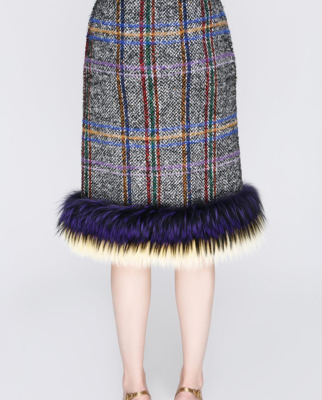 Simonetta Ravizza Серая юбка изображение 4