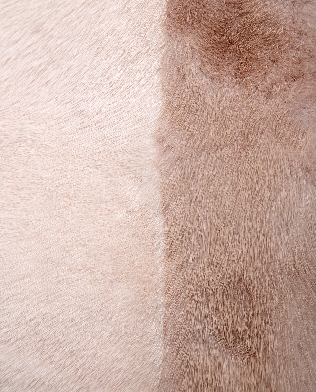 Florence Mode Пудровый полушубок из меха норки с митенками L1808BIS изображение 5