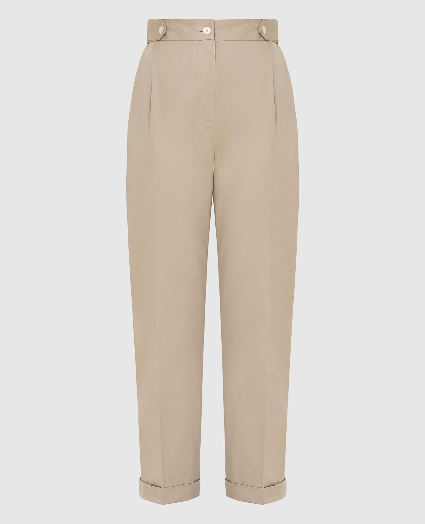 Бежевые брюки Kiton