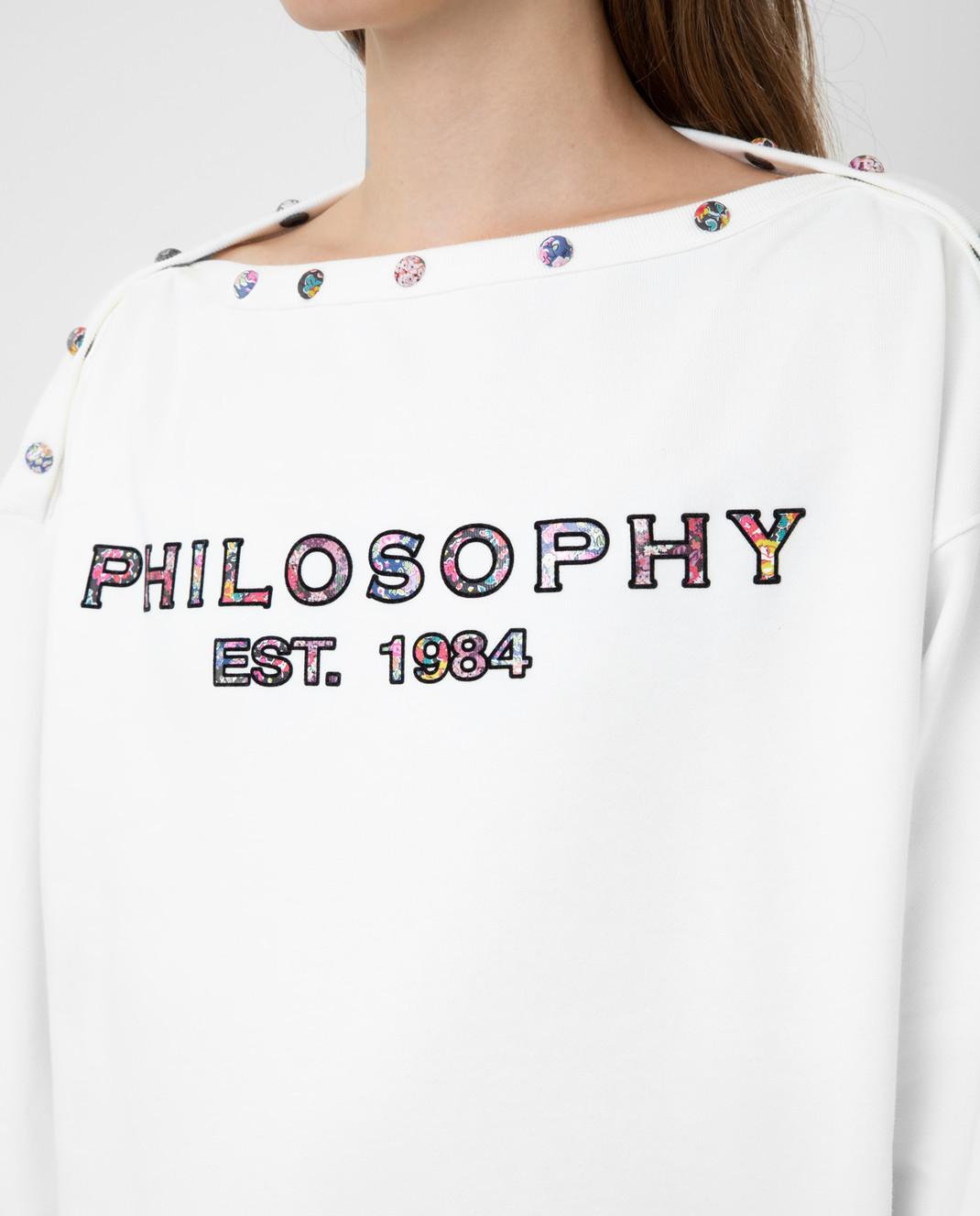 Philosophy di Lorenzo Serafini Белый свитшот изображение 5