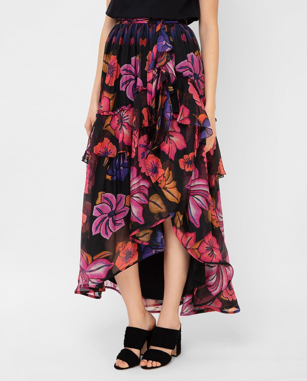 Alberta Ferretti Черная юбка из шелка A0122 изображение 3
