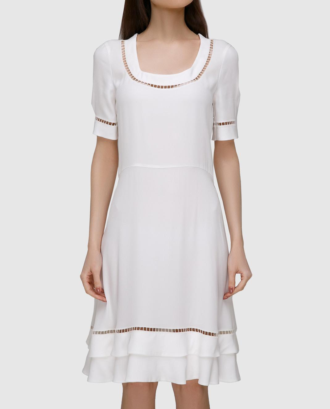 Ermanno Scervino Белое платье с кружевом D302Q320RVJ изображение 3