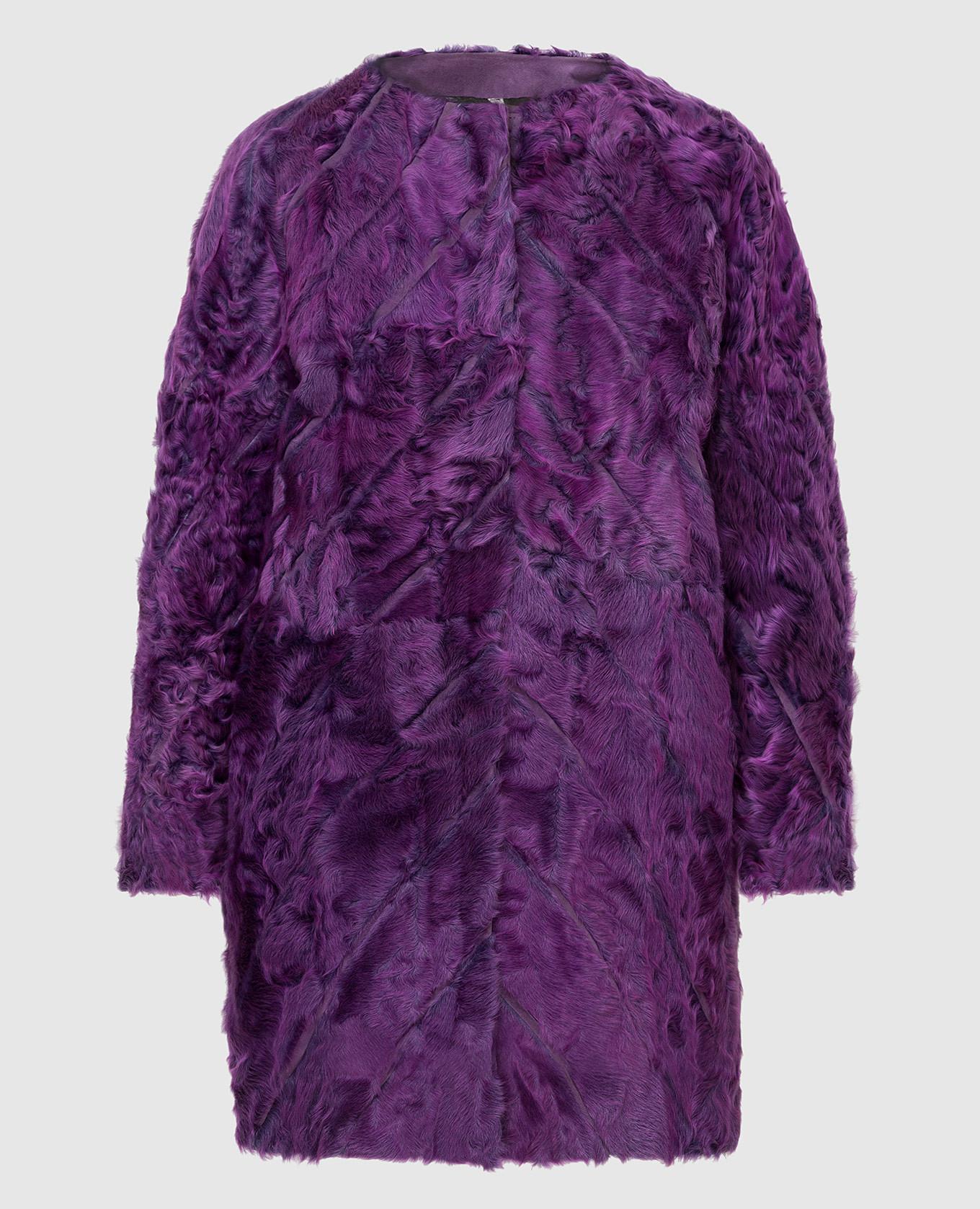 Фиолетовая шуба