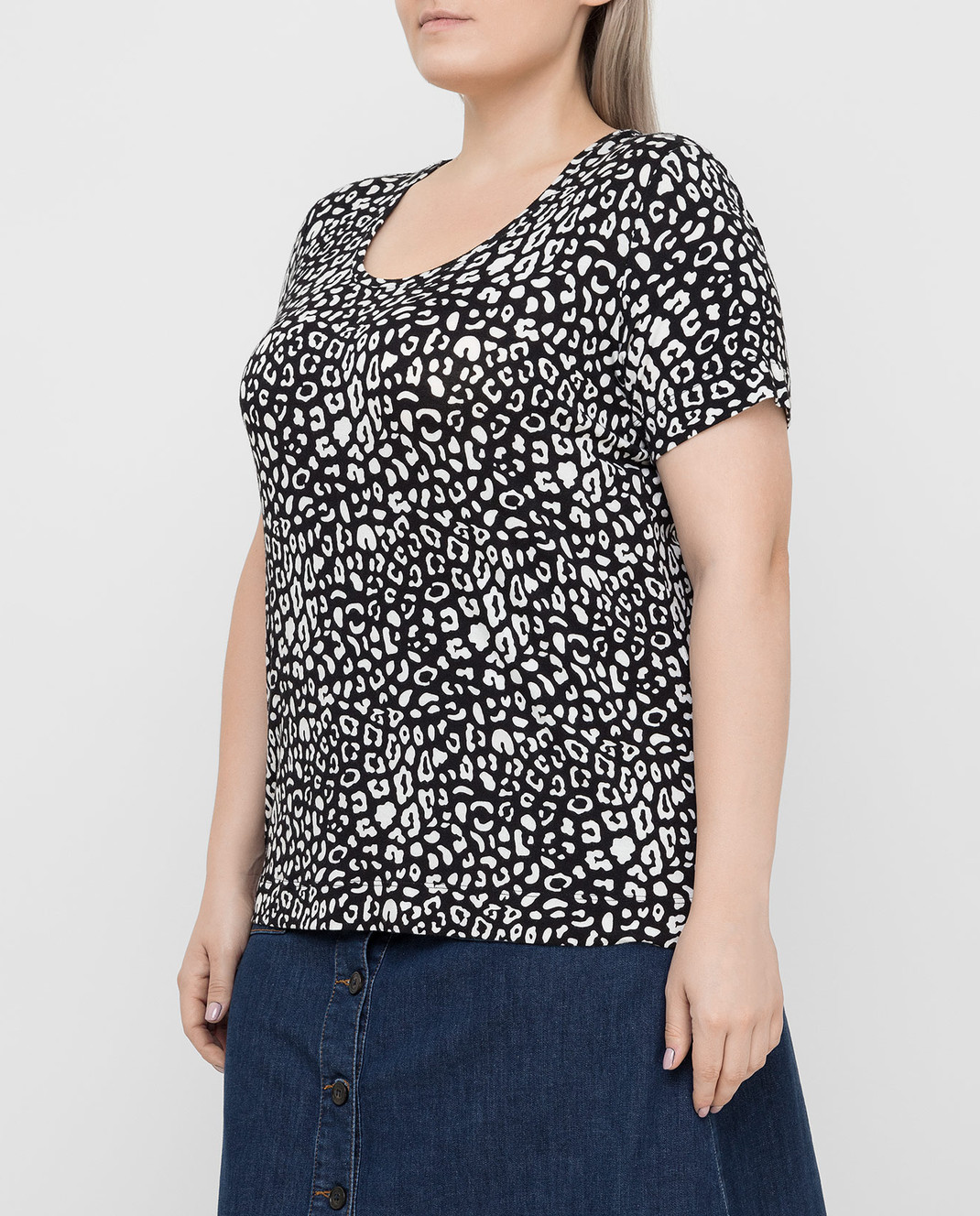 Marina Rinaldi Черная футболка изображение 3