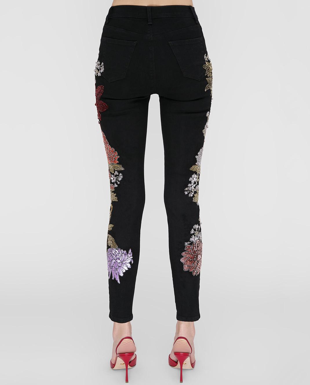 Amen Черные джинсы с пайетками изображение 4