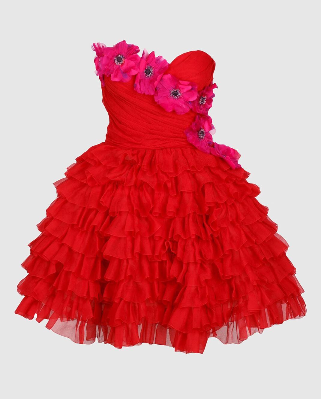Dolce&Gabbana Красное платье F62R5ZFU1KK