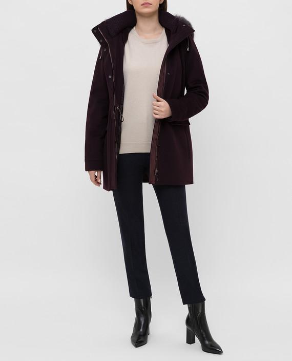 Бордовое пальто из шерсти hover