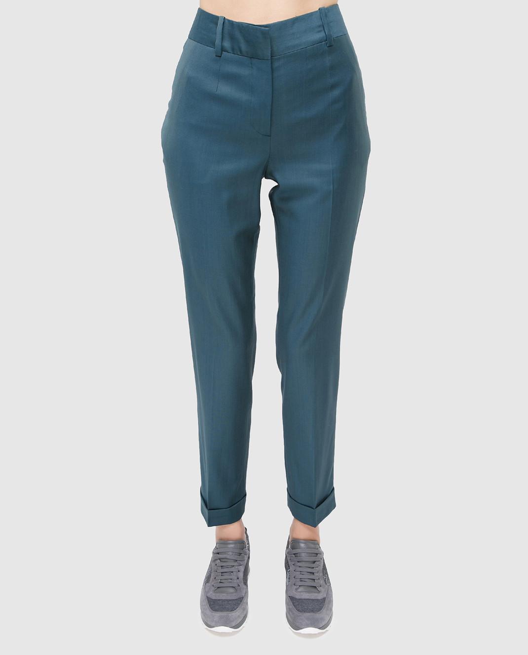 Maison Ullens Светло-синие брюки из шерсти изображение 3
