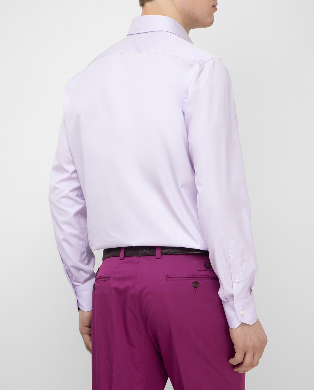 Luciano Lombardi Сиреневая рубашка 4653085 изображение 4