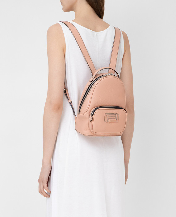 """Розовый кожаный рюкзак """"Mia"""" hover"""