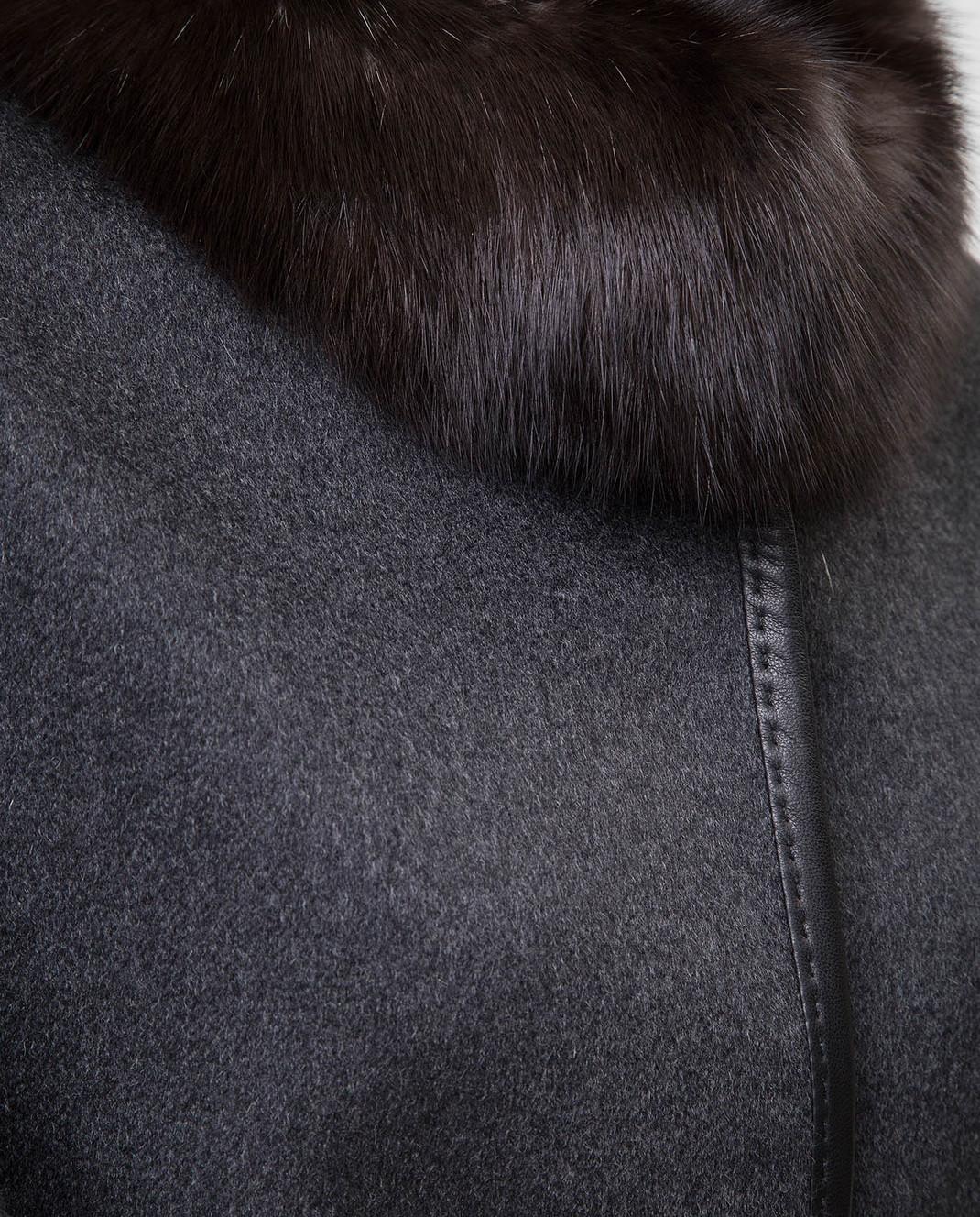 Real Furs House Темно-серое пальто CSR7177 изображение 5
