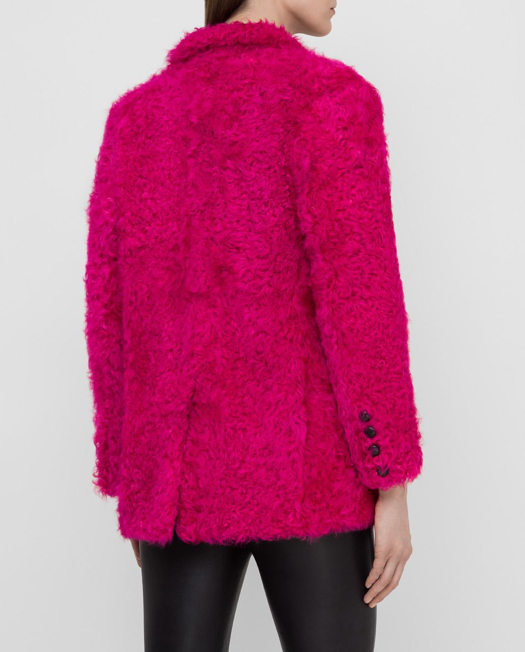 Simonetta Ravizza Розовая шуба из меха овцы CARLA3 изображение 4