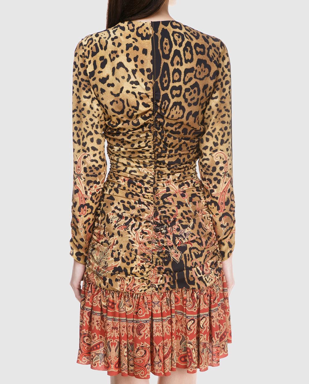 Etro Бежевое платье из шелка D152335384 изображение 4