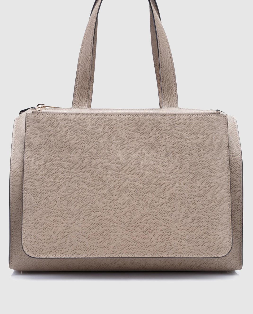Valextra Бежевая сумка из кожи V5F31