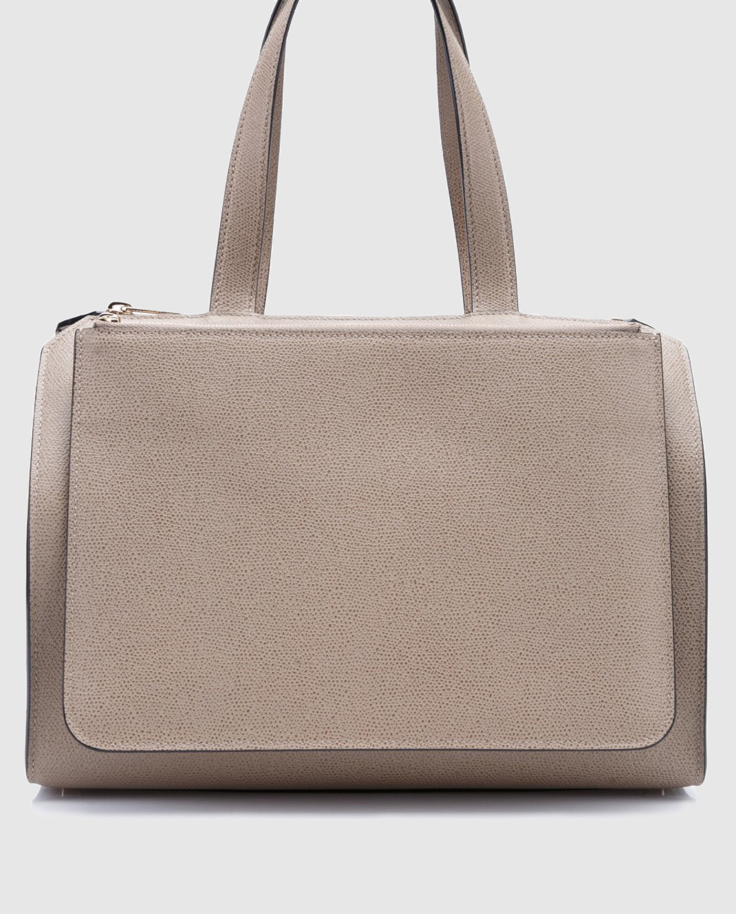 Бежевая сумка из кожи