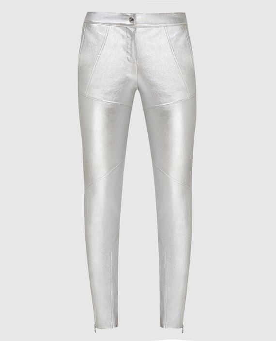 Серебристые брюки
