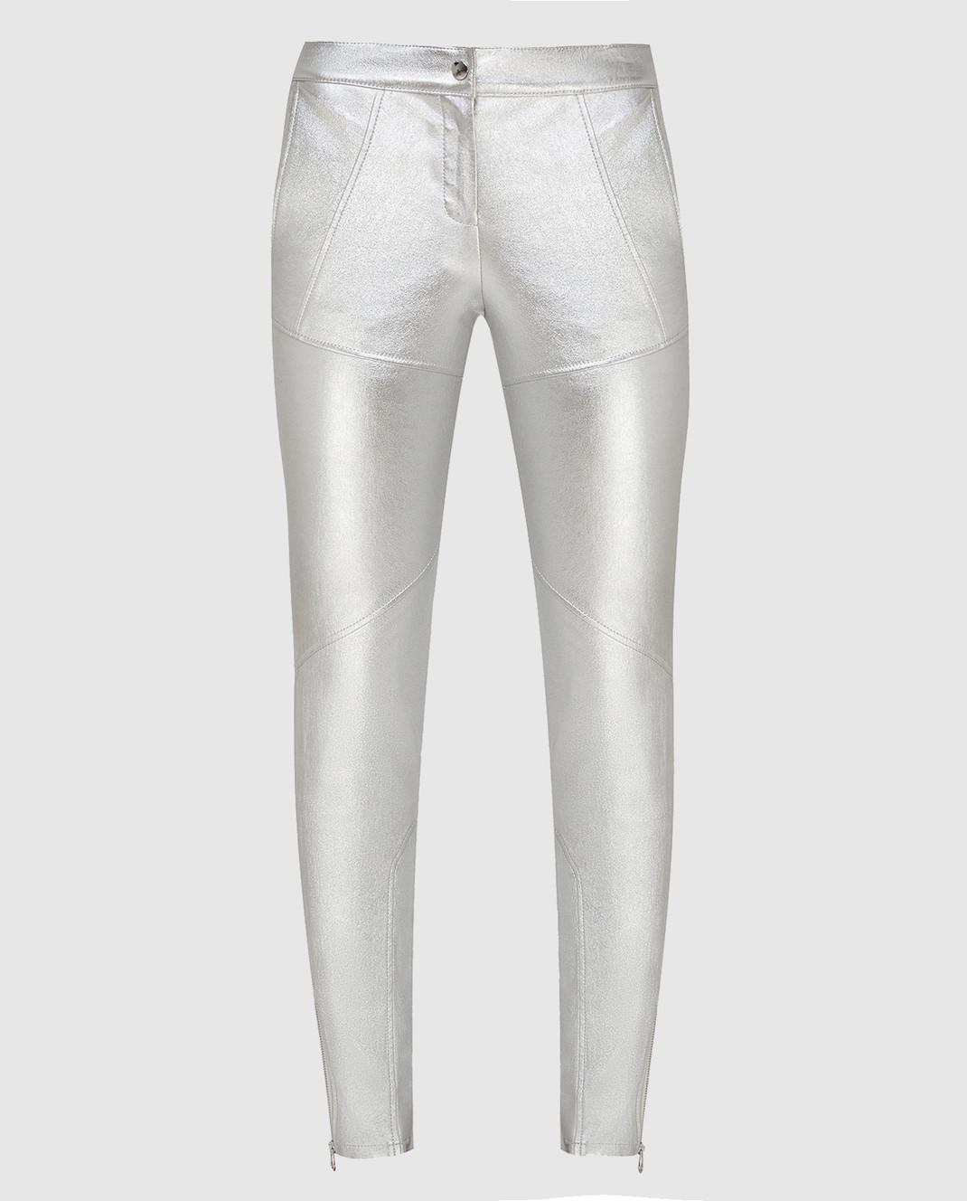 Yves Salomon Серебристые брюки 9EYP206XXAPSX