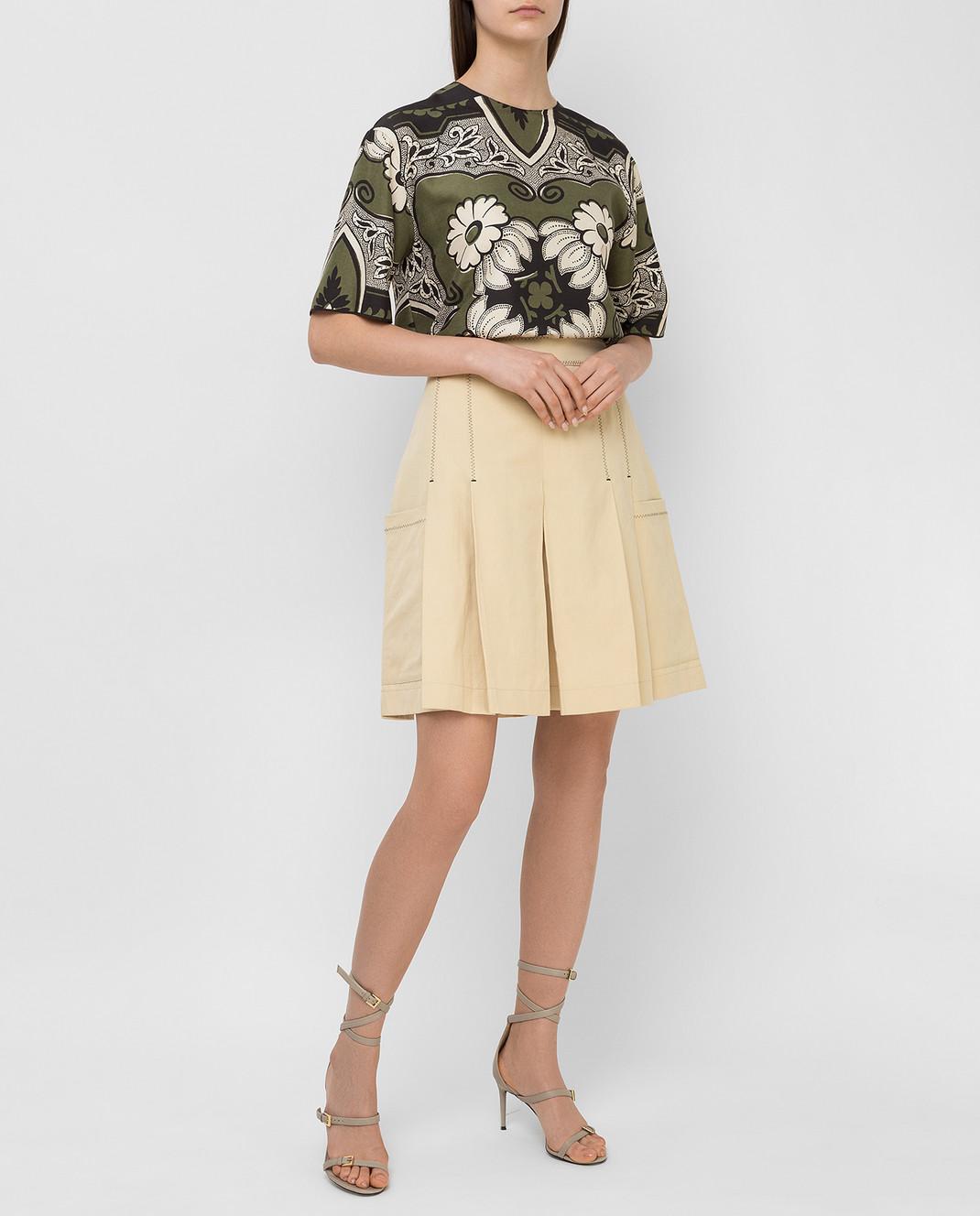 Bottega Veneta Бежевая юбка 369633 изображение 2