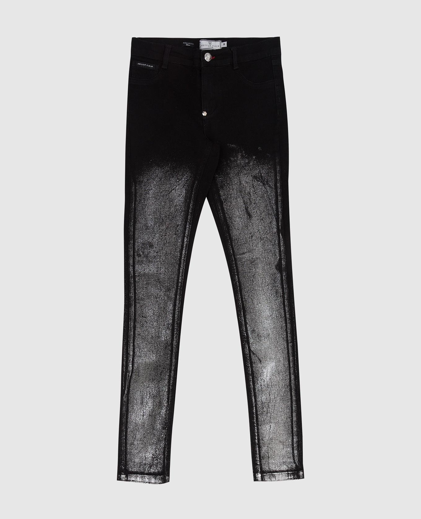 Детские черные джинсы