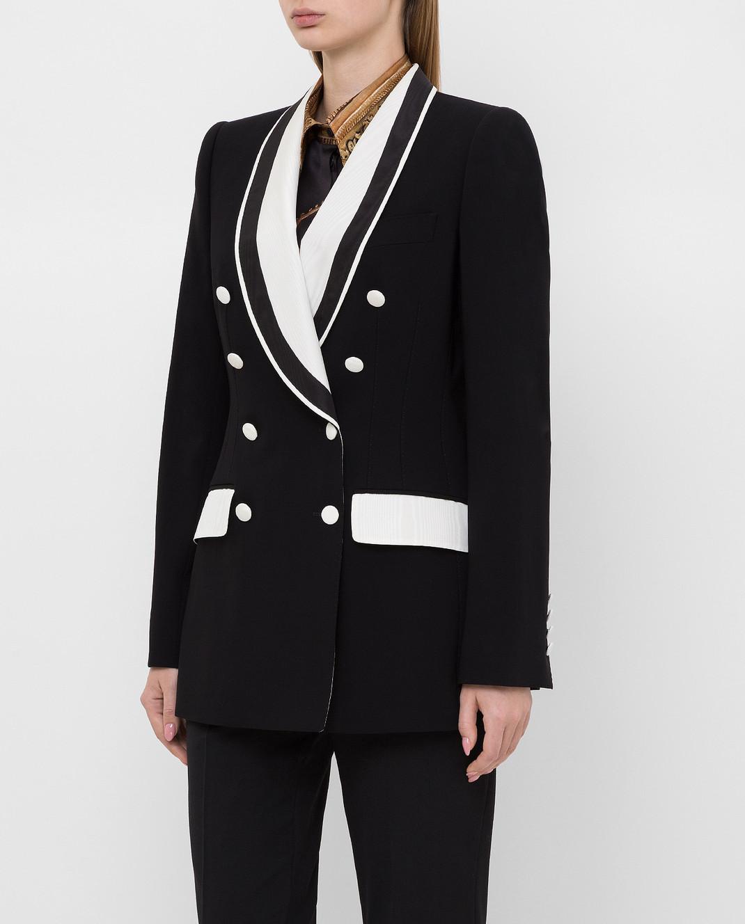 Dolce&Gabbana Черный жакет из шерсти изображение 3