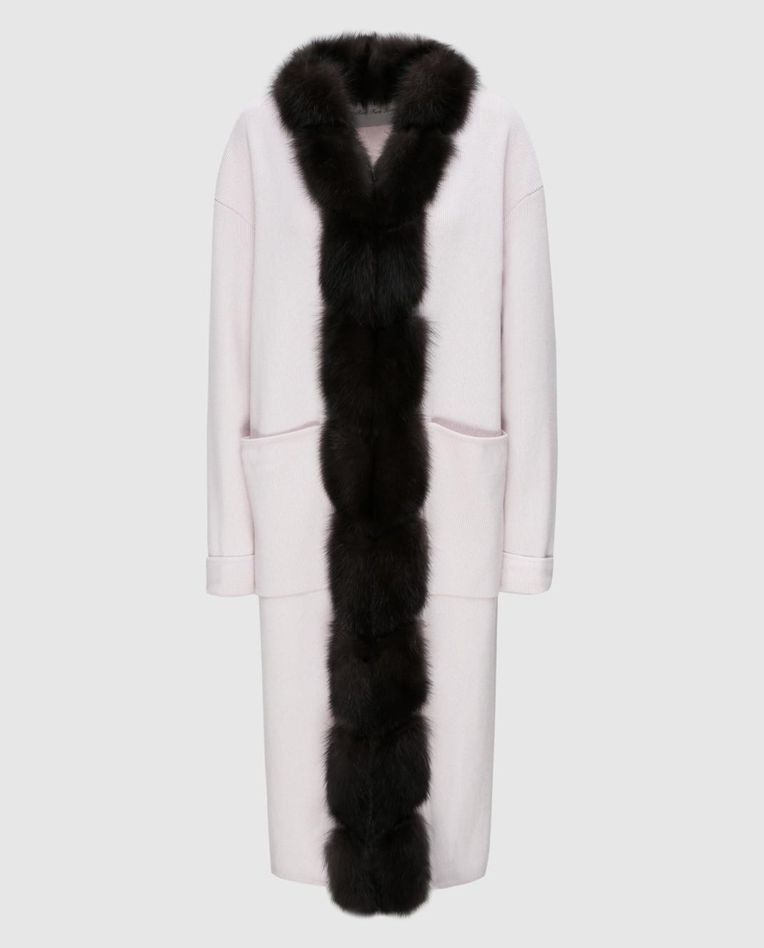Real Furs House Светло-бежевое пальто CSR01
