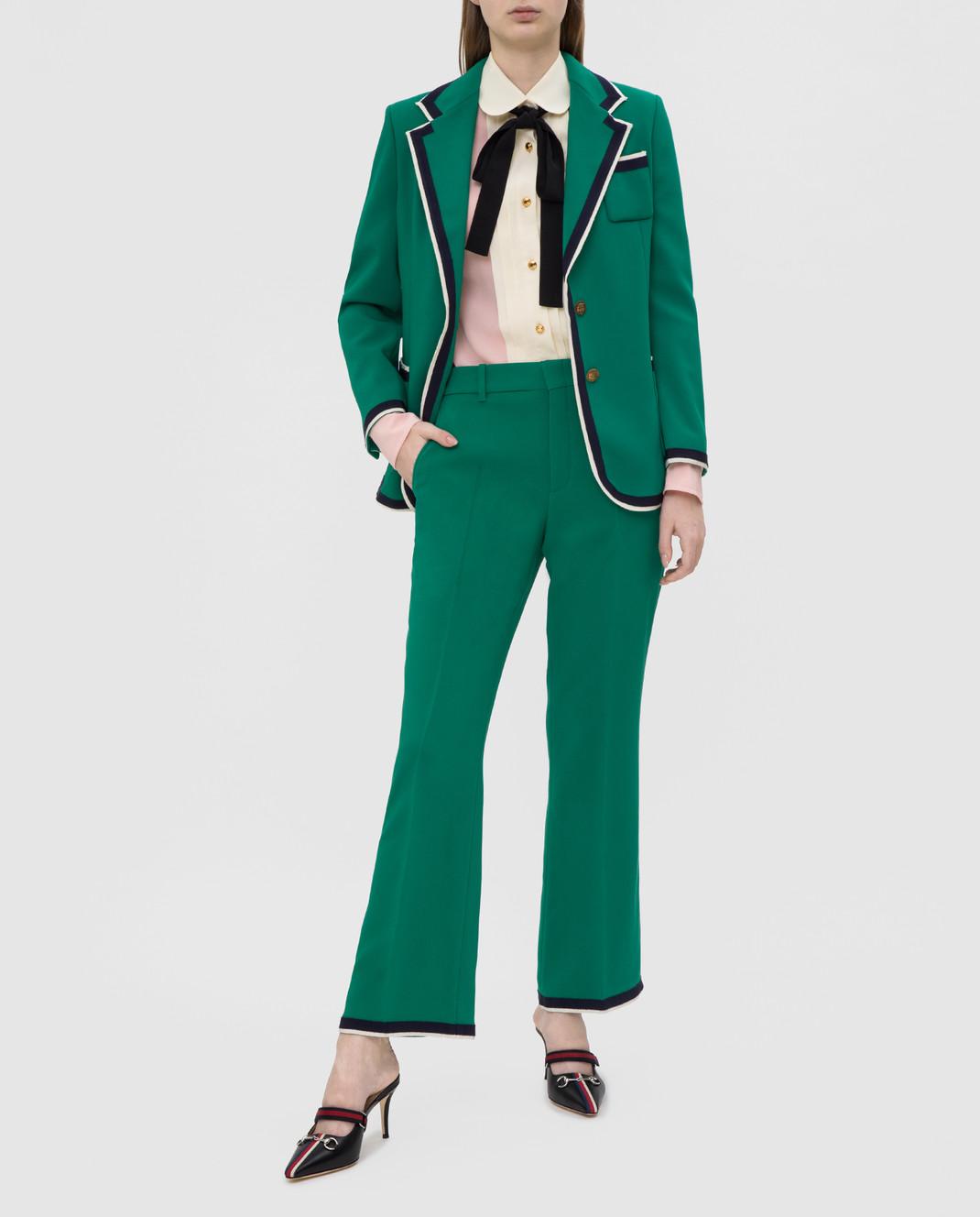 Gucci Зеленые брюки изображение 2