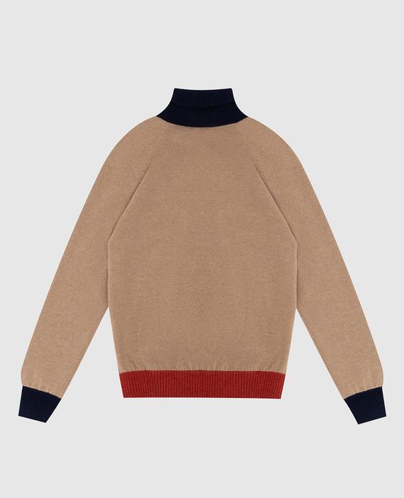 Детский бежевый свитер из кашемира hover