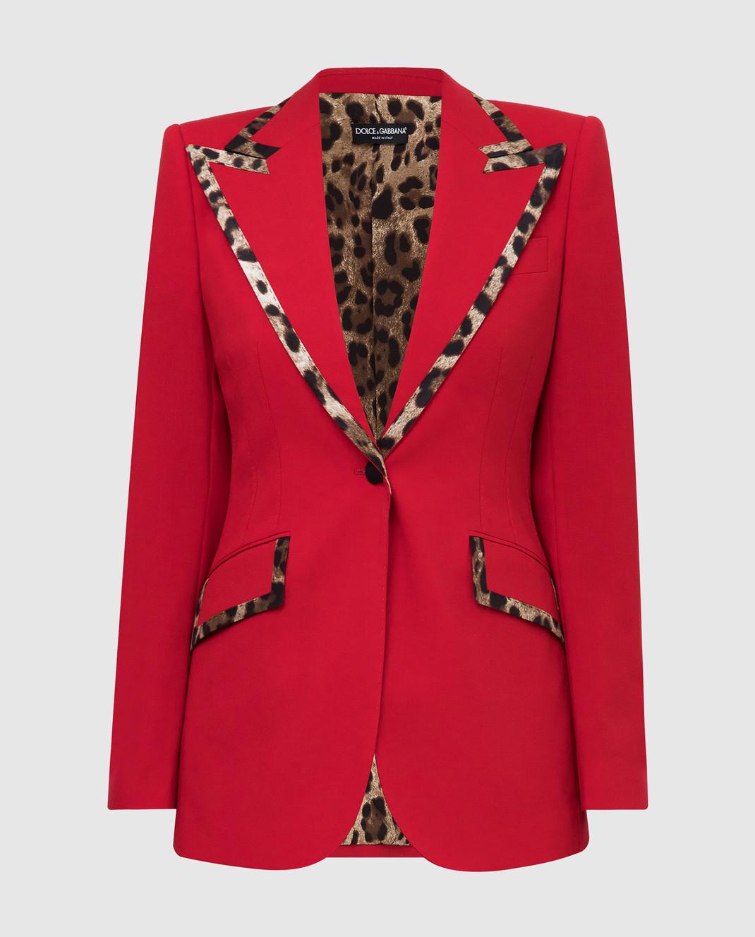 Dolce&Gabbana Красный жакет из шерсти изображение 1