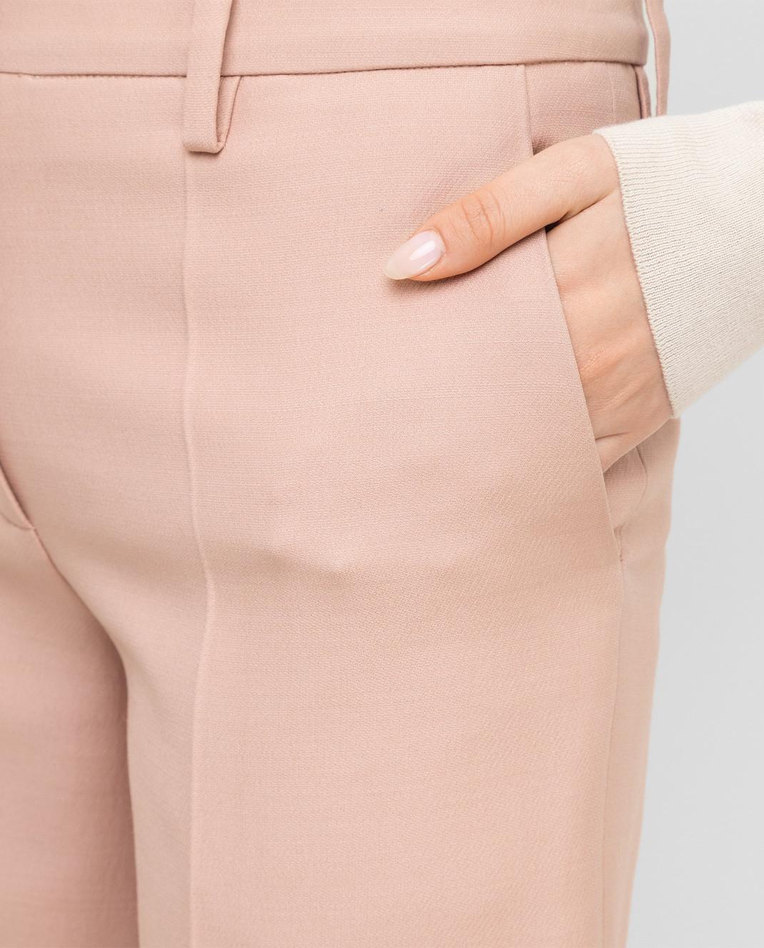 Valentino Пудровые бермуды из шерсти и шелка QB0RD0201CF изображение 5