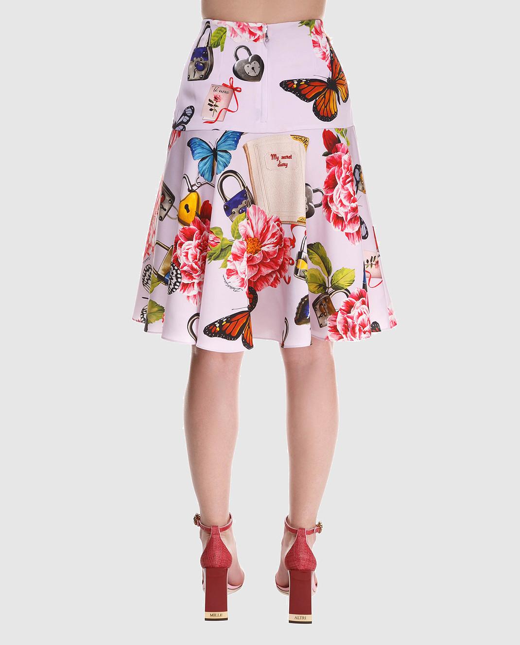 Dolce&Gabbana Юбка из шелка F4A8LTFSAUD изображение 5