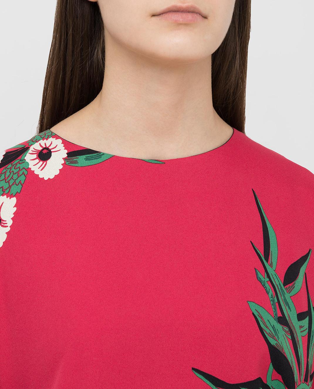 Marni Малиновое платье ABMAR17U00TV392 изображение 5