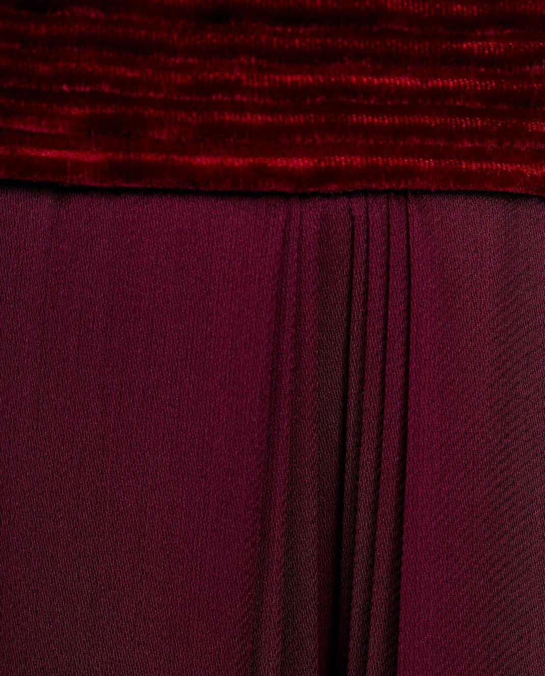 LARUSMIANI Бордовое платье из шелка 077581 изображение 5