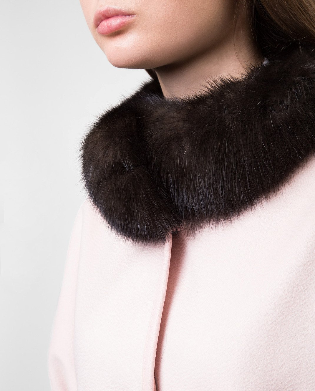 Real Furs House Пудровое пальто CSR7177 изображение 5