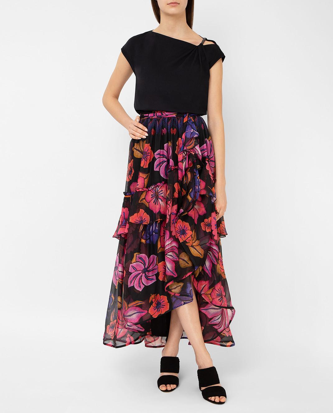 Alberta Ferretti Черная юбка из шелка A0122 изображение 2