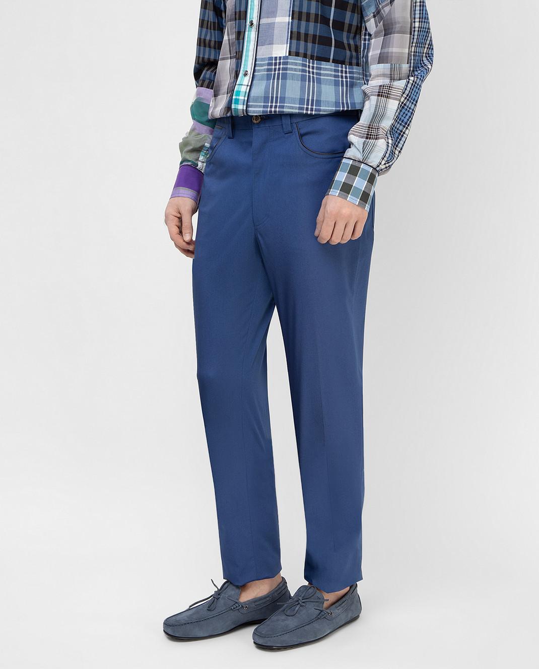 Stefano Ricci Синие брюки M1T8100020 изображение 3